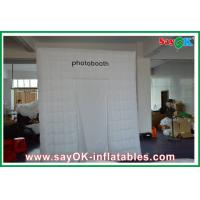 China Advertising Square Inflatable Photobooth One Door With Oxford Cloth on sale