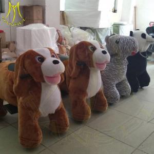 China Hansel wholesale game machine kids plush toys stuffed animal ride on sale