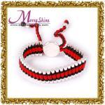 Braceletes bonitos ajustáveis da amizade das relações/pulseira vermelhos do OEM, pretos para as senhoras LS034