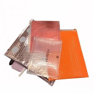 China Pink cosmetic item packaging ziplock air bubble bag zip top bubble bag supplier