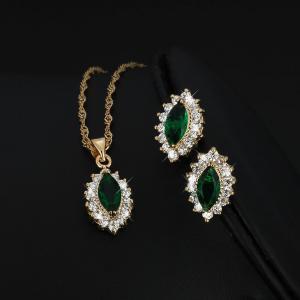China moti gold bridal fashion jewelry kundan set on sale