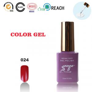 China uv gel polish for nails gel nail polish in rose red color on sale