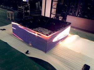 China 90 degree Shopping Cube LED Display 4.8mm Outdoor Advertising Display on sale