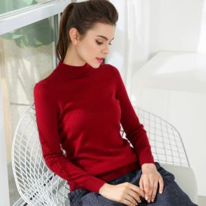 China Fashion Slim Womens Knit Sweater 100% Cashmere Material Pullover Style on sale