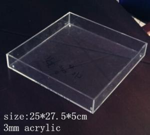 China Rectangle Clear Acrylic Tray 3mm acrylic service tray on sale