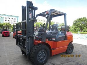 China EPA Approved 4 Tonne Gasoline Forklift Truck Material Handling Machines Dual Front Tires on sale