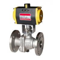 Sanitary Stainless Steel Pneumatic 3pc Ball Valve pneumatic actuator jacket wafer ball valve