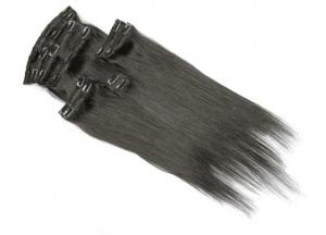 China Unprocessed Virgin Human Hair Clip In Extensions Natural Looking No Shedding on sale