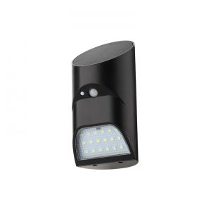 China 18 LED Black Solar Powered LED Security Motion Detector Outdoor Light For Lawn / Garden on sale