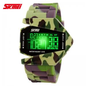 China Colorful Camouflage Multifunction Digital Watch , 50m Water Resistant supplier