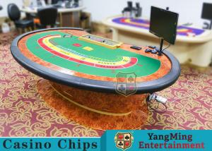 China Multi-functional Macau Galaxy Luxury Poker Table With Three Printed Table Cloths on sale