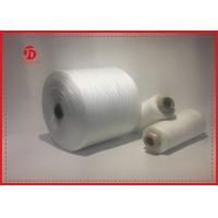Paper Cone Polyester Raw White Yarn For Sewing Eco - Friendly Great Strength