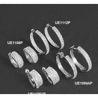China Fashion 925 Sterling Silver Earrings with Rhodium Plating on sale