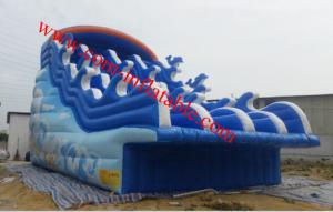 China large inflatable water slide pool inflatable pool with slide inflatable 8m pool slide on sale