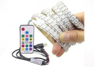 China Waterproof Usb Rgb Led Light Strip Flexible WS2812 IC With RF 17 Key on sale