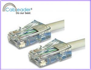 China UTP Network Cable cat5, High Speed cat 5e ethernet Patch cables with light gray on sale