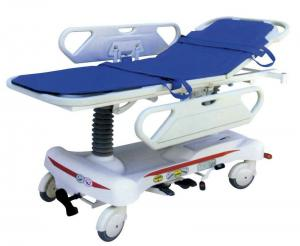 China Medical Patient Stretcher Trolley , Hydraulic Ambulance Trolley on sale