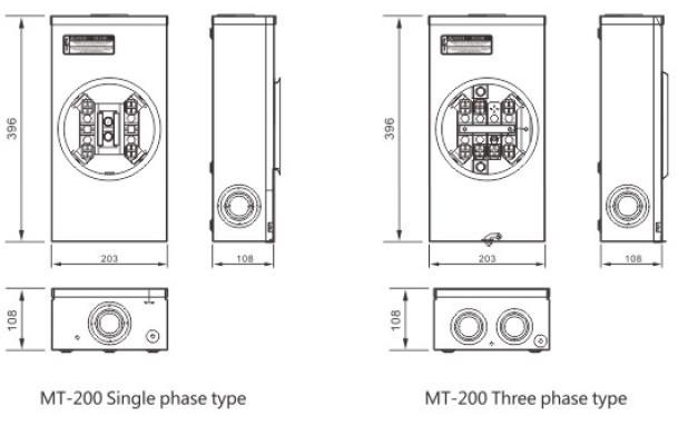 Quality Mt 20a 13j Rl Ts Series Electrical Meter Base
