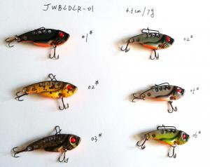 China 3.8cm/3g  4.5cm/7g  5.5cm/10g Blade metal fishinglure/sinking metal vib fishing lure /hard fishing lure on sale