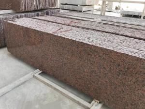 China Smooth Cut To Size Natural Stone And Tile G562 Maple Red Granite Slab on sale