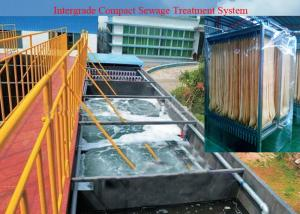 China MBR Aerobic Microbiological Treatment Wastewater System / Membrane Filtration Equipment on sale