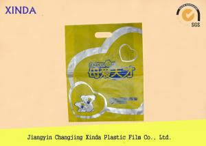 China Low-Density die cut plastic garment/clothes handle bags 190mmx240mm colour choice on sale