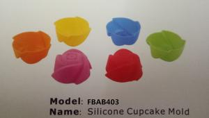 China FBAB403 for wholesales BPA free flower heart star shapes silicone cupcake mold on sale