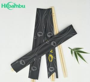 China 21cm custom sleeves chinese round / tensoge / twin disposable bamboo chopstick on sale