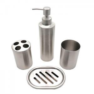 China Eco - Friendly Soap Toothbrush Holder Bathroom Set Dispenser Holder on sale