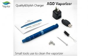 China Black Dry Herb Vaporizer E Cigarette Ago With Lcd Battery on sale