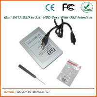 ES-2590-II Quality Product SSD Drive Case / USB Interface Mini Sata to Micro Sata HDD case