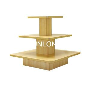 China Grocery Wooden Display Stands , 3 Layer Toy Gift Store Fixture on sale