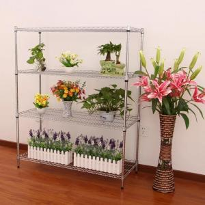 China Four Tier Storage Chrome Wire Shelving Chrome Plated Nickel - Chrome Finish on sale