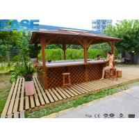 73pcs Massage Jets Outdoor Swim Whirlpool Massage Bathtub with Wood/ Stainless Steel Frame