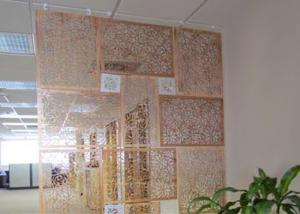 China Luxurious Fireproof Decorative Privacy Screen , Laser Cut Metal Panels Corrosion Protection on sale