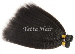 China Kinky Straight  Smooth Peruvian Human Hair Weave No Nits And No Lice on sale
