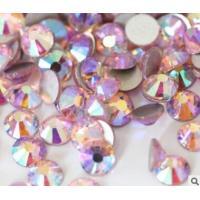 China lt rose ab ss20 5mm DMC flat back rhinestone AB crystals on sale