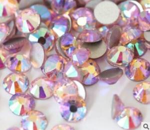 China flat back rhinestones wholesale in bulk lt rose ab pink ab colors on sale