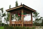 WPC Asian Style Pre Built Gazebos , Ready Made Gazebo With Back Bench And Decoration