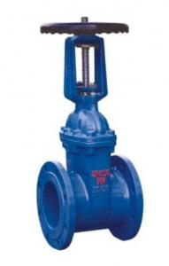 China Cast Iron Rising Stem Flanged Gate Valve , PN10 Resilient Seated Water Gate Valve on sale