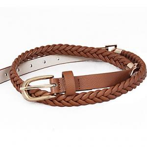China Lady fashion women skinny pig skin leather adjustable waist belt for a dress on sale