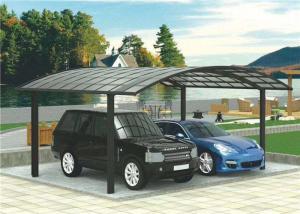 China Aluminium Frame Two Car Carport , High Wind Resistance Free Standing Carport on sale