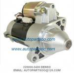 Frente del cortacéspedes del motor de arrancador de Denso 228000-5400 WAI 18414N 12V 9Tooth 0.9kw Kubota