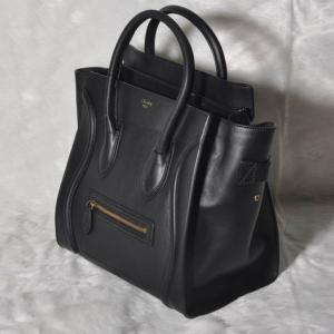 22cf667f29 ... Quality Celine Mini Luggage Tote Bag Smooth Leather Black for sale ...