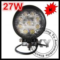 China 27W round automobile led work lamp motorcycles led work light PMMA in flood & spot beam on sale