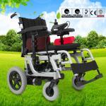 Lightweight Electric Folding Wheelchair Spray Steel Material DLY-6012