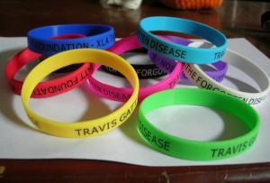 China print logo promotional silicone bracelet on sale