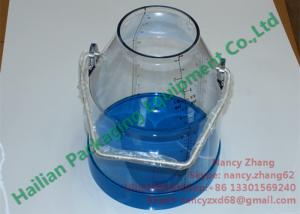 China Transparent Clear Bucket Milking Machine Parts Large Container For Milk Collecting on sale