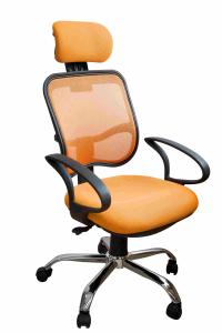 China Orange Fabric Home Office Computer Chair Ergonomic Back Comfortable For Whole Day Work on sale