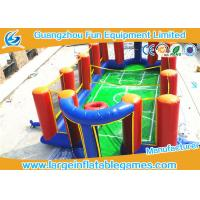 Airtight Inflatable Football Playground Soap Soccer Field Court Shape For Beach Game